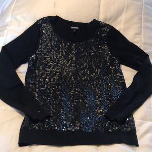 Express black cotton sweater
